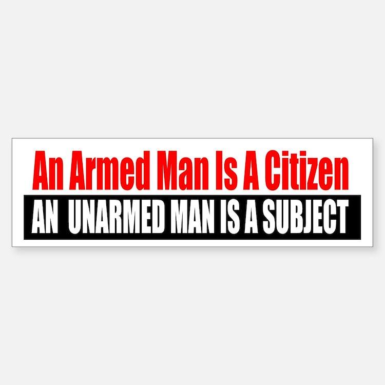 The Armed Man Bumper Bumper Bumper Sticker