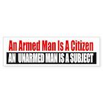 The Armed Man Bumper Sticker