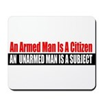 The Armed Man Mousepad