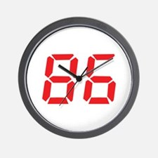 86 eighty-six red alarm clock Wall Clock