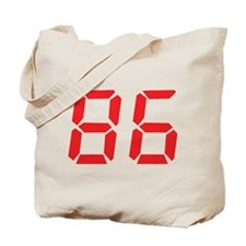 86 eighty-six red alarm clock Tote Bag