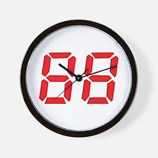 88 eighty-eight red alarm clo Wall Clock