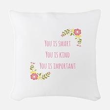 Words of Wisdom 1 Woven Throw Pillow