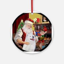 Santa's Samoyed Ornament (Round)