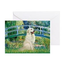 Bridge / Great Pyrenees Greeting Card