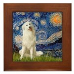 Starry Night / Pyrenees Framed Tile