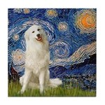 Starry Night / Pyrenees Tile Coaster