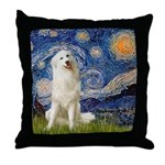 Starry Night / Pyrenees Throw Pillow