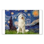 Starry Night / Pyrenees Sticker (Rectangle)