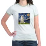 Starry Night / Pyrenees Jr. Ringer T-Shirt