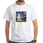 Starry Night / Pyrenees White T-Shirt