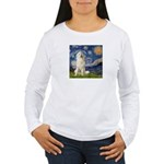 Starry Night / Pyrenees Women's Long Sleeve T-Shir