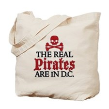 REAL PIRATES ARE IN D.C. Tote Bag
