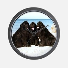 Newfoundland Beach Trio Wall Clock