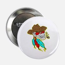 "Cowboy Skull #1023 2.25"" Button"