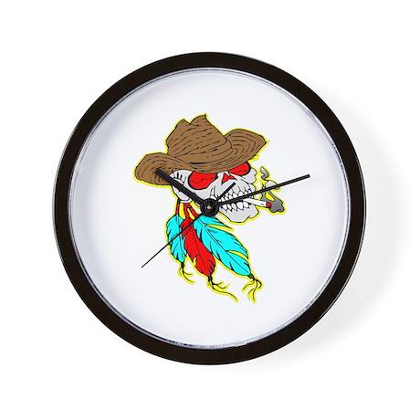 Cowboy Skull #1023 Wall Clock
