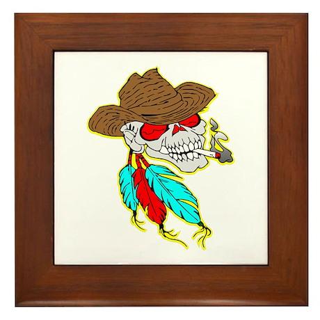 Cowboy Skull #1023 Framed Tile