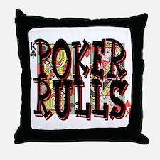 Poker Rulls! Throw Pillow