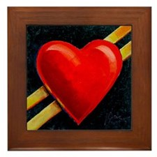 My Heart's on the Line Framed Tile