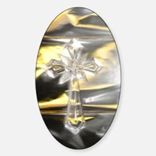 Cross/Gold/Silver/With Light/ Oval Decal
