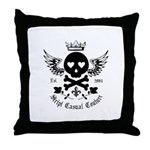 Skull and Crossbones w/Wings Throw Pillow
