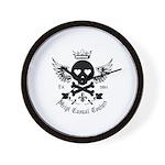 Skull and Crossbones w/Wings Wall Clock