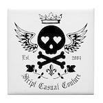 Skull and Crossbones w/Wings Tile Coaster