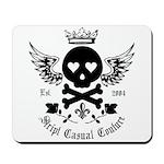 Skull and Crossbones w/Wings Mousepad