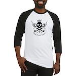 Skull and Crossbones w/Wings Baseball Jersey