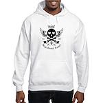 Skull and Crossbones w/Wings Hooded Sweatshirt