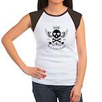 Skull and Crossbones w/Wings Women's Cap Sleeve T-