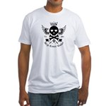 Skull and Crossbones w/Wings Fitted T-Shirt