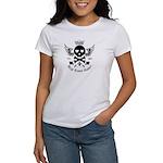 Skull and Crossbones w/Wings Women's T-Shirt