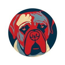 """Vote Mastiff! - 3.5"""" Button"""