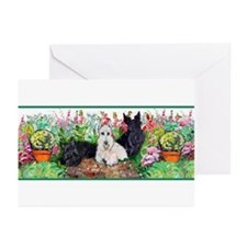 Scottie Garden Patrol Greeting Cards (Pk of 20)