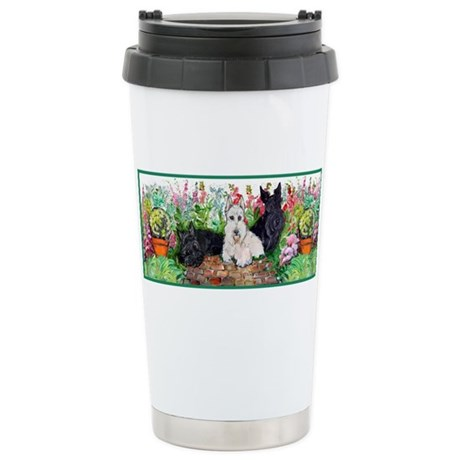 Scottie Garden Patrol Stainless Steel Travel Mug