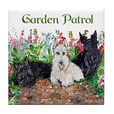 Scottie Garden Patrol Tile Coaster
