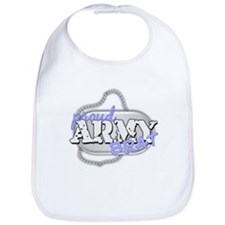 PROUD ARMY BRAT BLUE Bib