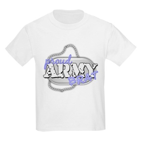 PROUD ARMY BRAT BLUE Kids Light T-Shirt