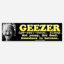 GEEZER Bumper Bumper Bumper Sticker