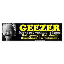 GEEZER Bumper Bumper Sticker
