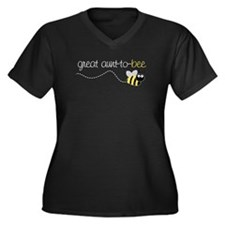 great aunt to be shirt Women's Plus Size V-Neck Da