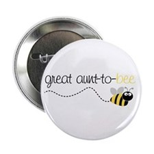 "great aunt to be shirt 2.25"" Button"