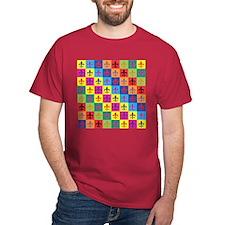 Pop Art Fleur De Lis T-Shirt