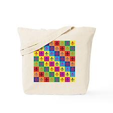 Pop Art Fleur De Lis Tote Bag
