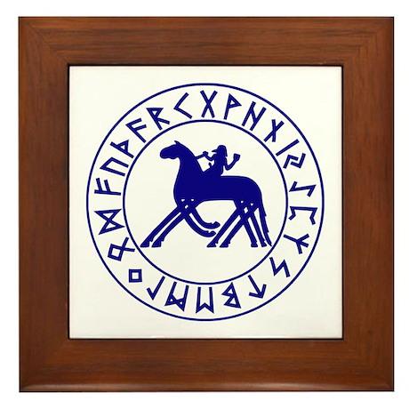 Sleipnir Rune Shield Framed Tile