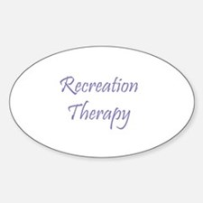Recreation Therapy Oval Decal
