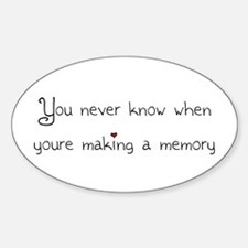 Making memories Oval Decal