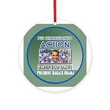 First 100 Days Ornament (Round)