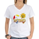 Funny retirement Womens V-Neck T-shirts
